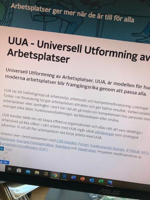 Bild på beskrivning av Universell Utformning på Arbetsplatser